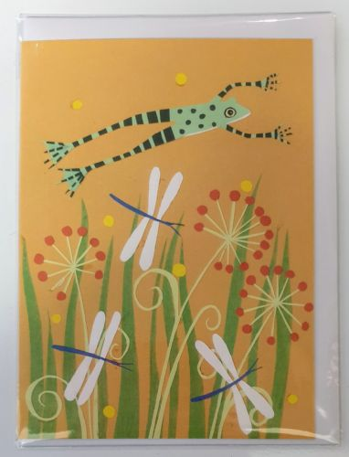 Card - Frog & dragonflies